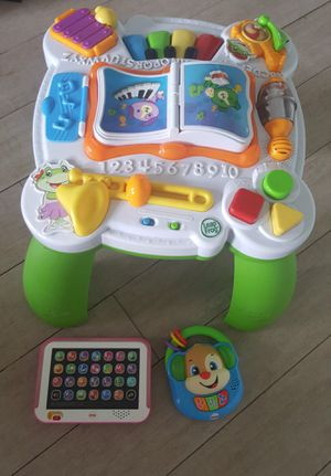 Leap Frog&Groove musical table/ Fisher Price Toys for infants,toodlers for Sale in Boca Raton, FL