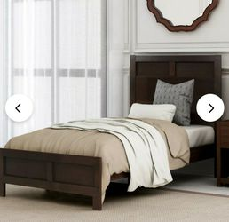 TWIN WOOD BED FRAME (2 AVAILABLE) for Sale in La Puente,  CA