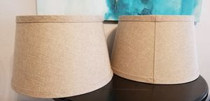 2 Linen lamp shades for Sale in Tampa, FL