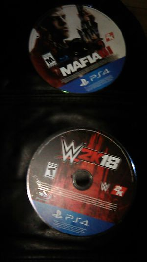 PS4 games Mafia III & W2k18 for Sale in East Orange, NJ