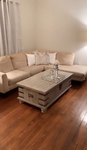 Sectional Microfiber Couch & Ottoman for Sale in Queens, NY