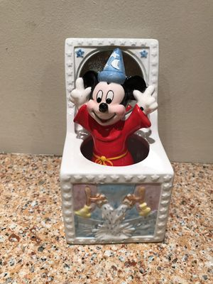 Vintage Schmid Disney Mickey Mouse Sorcerer's Apprentice Music Box Fantasia for Sale in Salem, MA