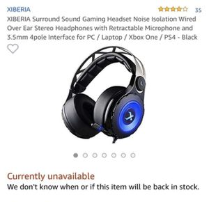 Xiberia C18 Gaming Headphones for Sale in Tacoma, WA