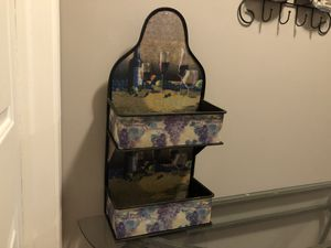 Hanging metal shelf with wine design for Sale in Downers Grove, IL