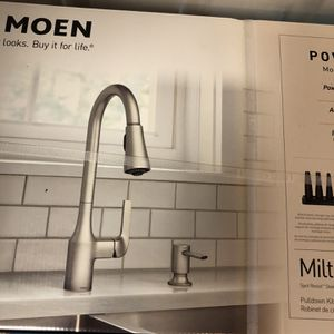 MOEN Milton Single-Handle Pull Down Sprayer Kitchen Faucet with Reflex and Power Clean Attachments in Spot Resist Stainless for Sale in Laurel, MD
