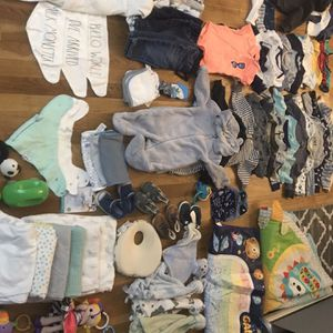 Hugge Bundle Of Baby Boy Clothes + Items ! Read Description for Sale in Mount Vernon, NY