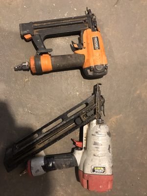 Air pressures nail guns , rigid and central pneumatic for Sale in Lawrenceville, GA