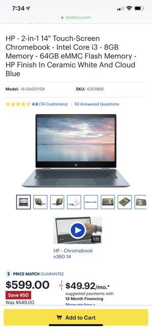 Hp Chromebook x360 14 for Sale in Norfolk, VA