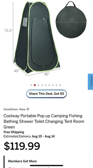 Costway Portable Pop up Camping Fishing Bathing Shower Toilet Changing Tent Room Green for Sale in La Puente, CA