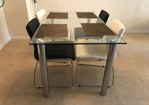 Glass Dining Table with 4 Chairs for Sale in Boca Raton, FL