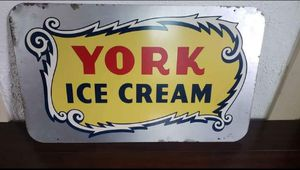 Vintage York Ice Cream Sign for Sale in Windsor, PA
