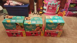 Huggies and pampers for Sale in Trenton, NJ