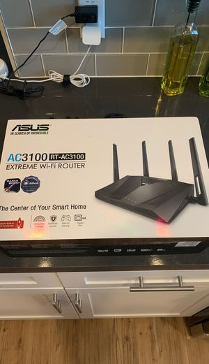 ASUS - AC3100 Dual-Band Wi-Fi Router computer home office living room internet gaming for Sale in Riverside, CA