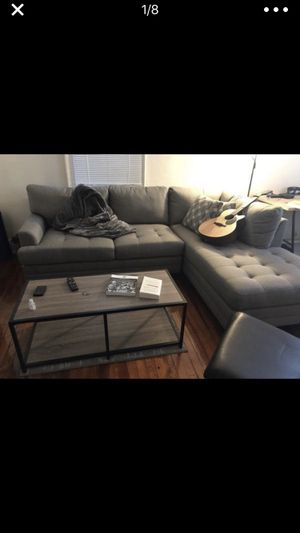 Grey two piece couch - extremely comfortable for Sale in Washington, DC