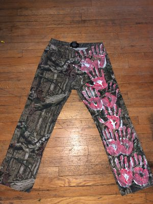Mossy Oak hand painted camo pants for Sale in Chicago, IL