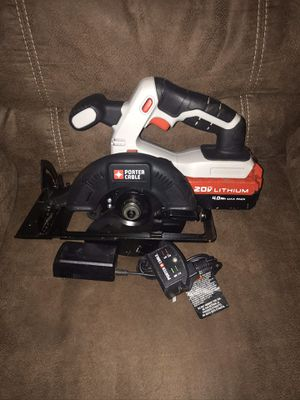 Porter cable circular saw one 4.0 battery and charger for Sale in Clayton, NC