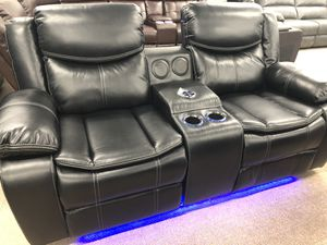 Power recliner BT speakers led light sofa and loveseat for Sale in Elgin, IL