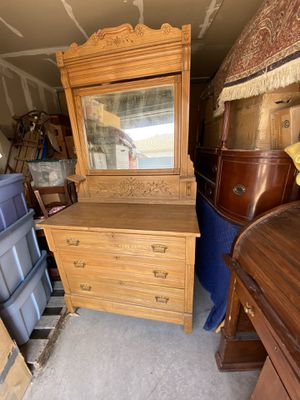 Maple Dresser with mirror for Sale in Denver, CO