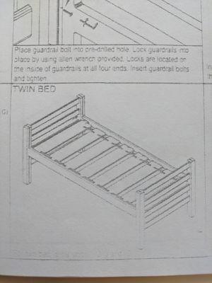 Twin XL Bed Frame - University Loft Graduate Series-$200 for Sale in San Jose, CA