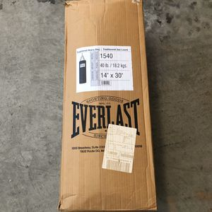 Everlast 40lbs Punching Bag for Sale in Alhambra, CA