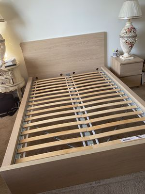 IKEA full bed frame and night stand for Sale in North Andover, MA