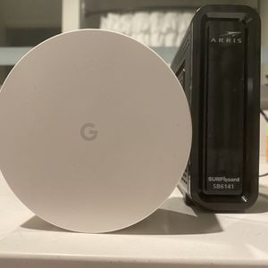 Google Wifi Point with Arris Surfboard for Sale in Chicago, IL