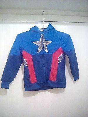 Kids Captain America hoodie Size 6 for Sale in Herndon, VA