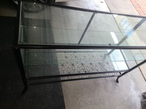 Glass and Metal Table Display Shelf for Sale in Rancho Cucamonga, CA