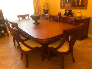 Beautiful dining room table with 8 chairs and buffet for Sale in Fort Lauderdale, FL