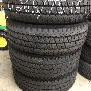 (4) 265/75-16 Lt 10 Ply Firestone A/T Plow Truck Tires for Sale in Woodbury, CT