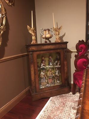Very beautiful gorgeous antique cabinet with antique Statues for Sale in Troy, MI
