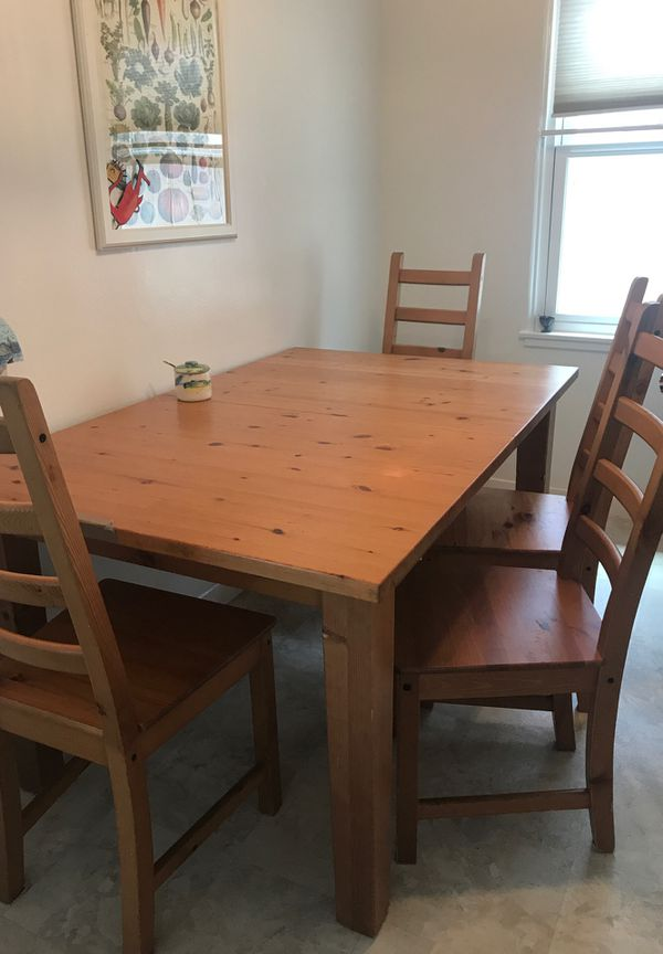 IKEA Kitchen - 4 chairs and table