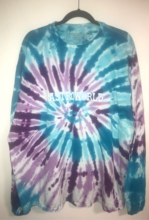 Travis Scott Astroworld Official Tour Merch Tie-Dye Long Sleeve shirt XXL for Sale in Seattle, WA