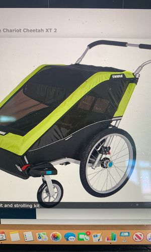 Thule Chariot Cheetah double stroller for Sale in San Diego, CA
