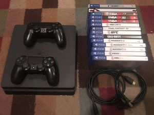 Sony PlayStation 4 SLIM - 1TB - 2 Controllers - 14 Games for Sale in Stone Mountain, GA