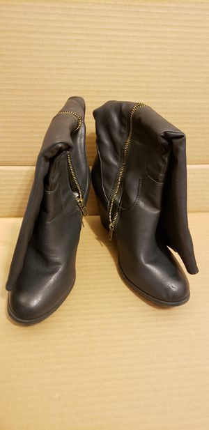 Black Size 9 High Boots for Sale in Washington, DC