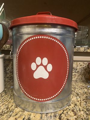 Dog food storage and dog sweater for Sale in Roswell, GA