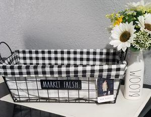 Rae Dunn basket / farmhouse decor kitchen home storage for Sale in Compton, CA