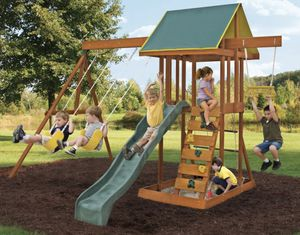 KidKraft Meadowvale II Wooden Swing Set for Sale in Mill Valley, CA