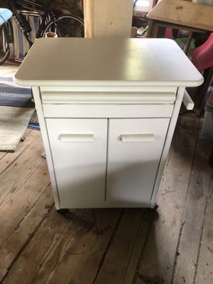 Kitchen cart on casters for Sale in Kennebunkport, ME