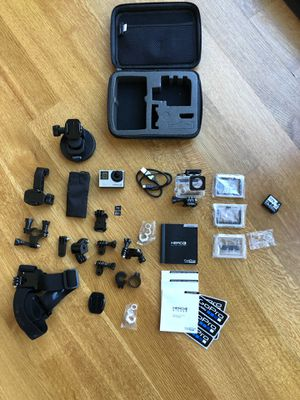GoPro HERO 4 Silver Bundle With 4 & 8 gb SD, Dual Bat/charger, Padded Case. Two batteries and also a separate charger. for Sale in Bethesda, MD