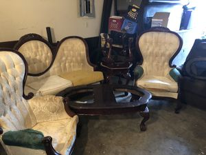 Queen and antique furniture for Sale in Houston, TX