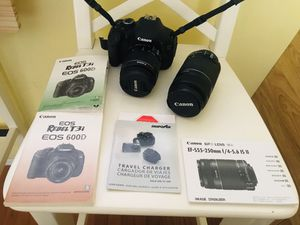 Canon Rebel T3i. Only used 2 times. Like brand new. for Sale in San Diego, CA