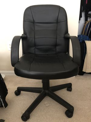 Black Leather Office Chair Like New for Sale in Dania Beach, FL
