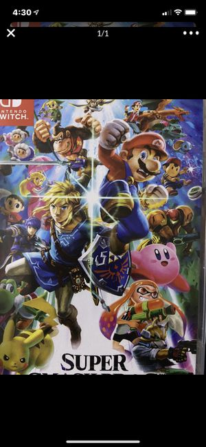 Nintendo switch super smash brothers for Sale in Wildomar, CA