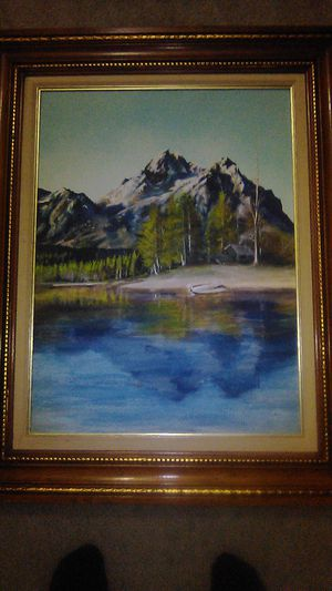 Gold Gilt Frame & A Painting on Canvas for Sale in Des Moines, WA