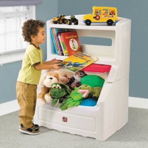 STEP2 TOY & BOOK STORAGE with kid safety features anti lock no tipping over for Sale in Las Vegas, NV