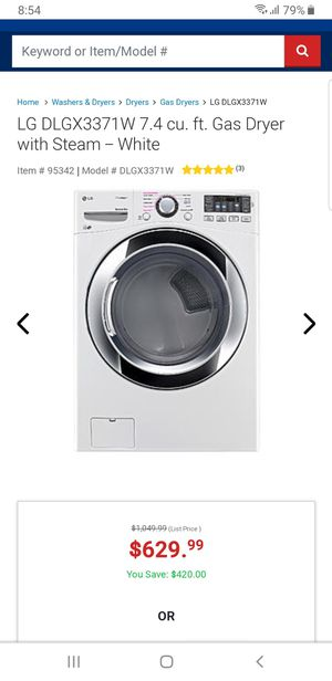 LG washing dryer only 4 years old working in cool conditions for Sale in Anaheim, CA