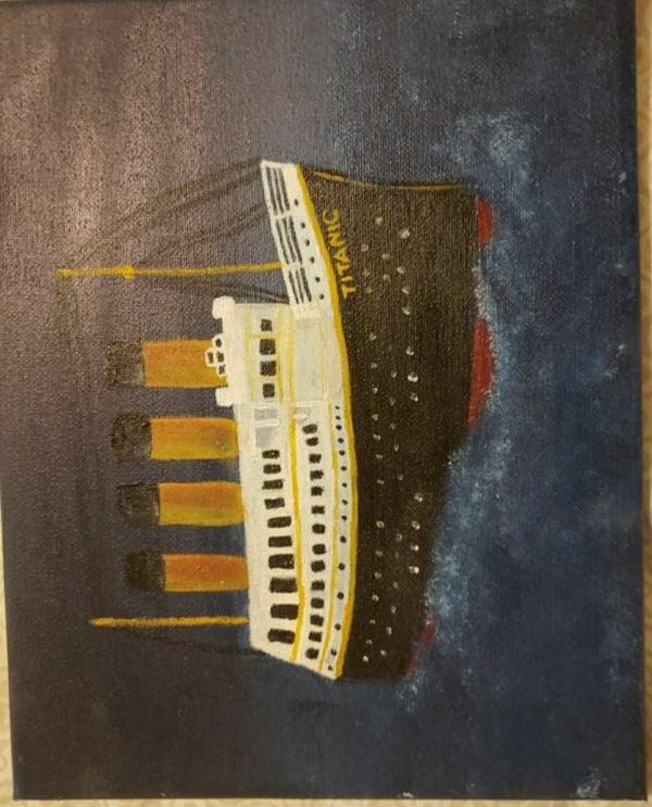 "Titanic paint 10""x8"""