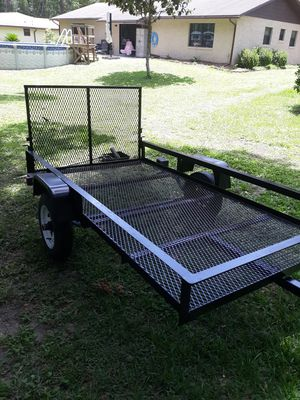 4'x8' Utility Trailer - Rear Drop Gate - Totally Rebuilt - New Wiring - Lights Work - Very Good 4.80x12 Tires - Tongue Jack - Freshly Painted for Sale in Dunnellon, FL